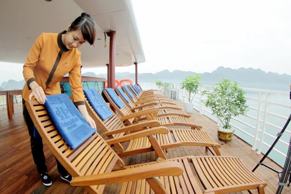 Dịch vụ trên du thuyền Hương Hải Sealife Hạ Long