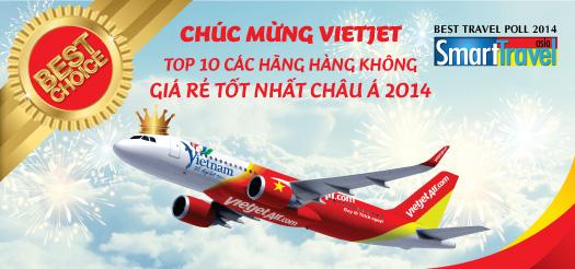 Vietjet Air - Top 10 hãng hàng không rẻ nhất châu Á