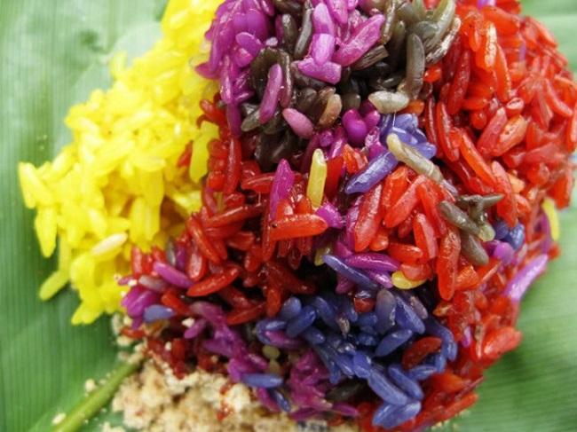 Món xôi Mộc Châu ngon lành, xinh đẹp