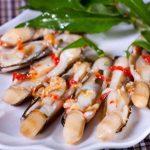 Ốc móng tay ẩm thực Quảng Ninh món ăn níu chân du khách.